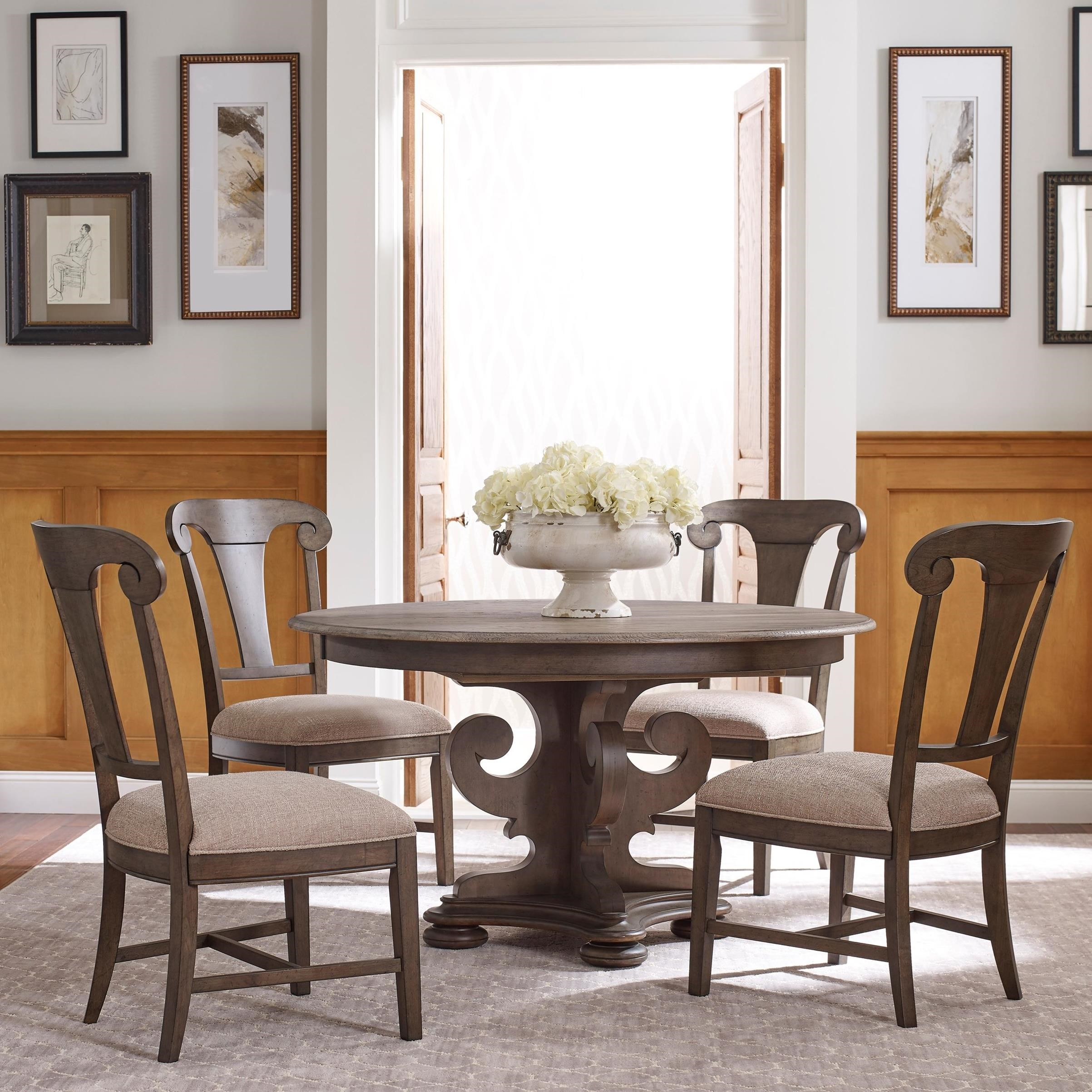 Kincaid Dining Room Set: Kincaid Furniture Greyson Five Piece Dining Set With Grant Round Table And Fulton Side Chairs