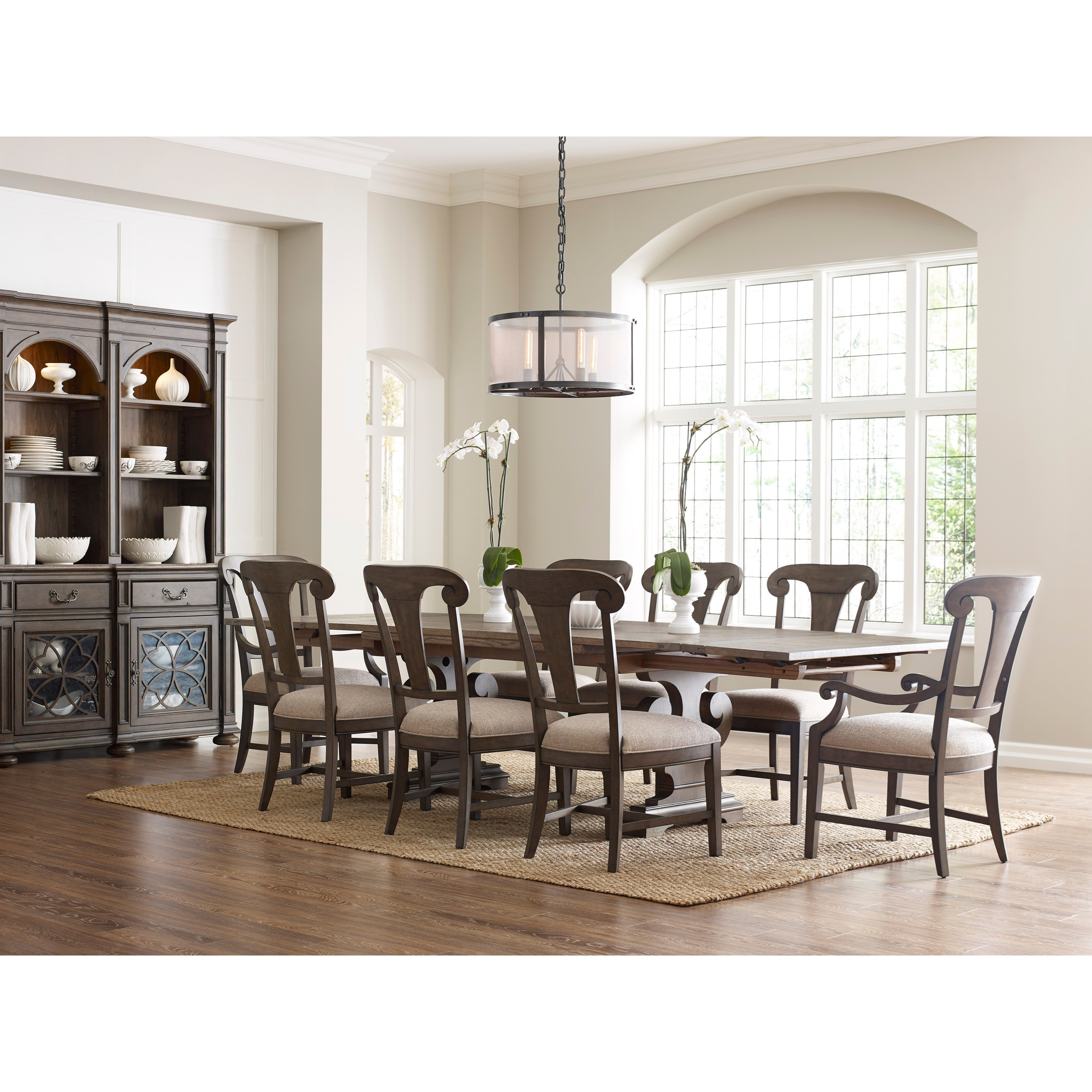 Kincaid Dining Room Set: Kincaid Furniture Greyson Nine Piece Dining Set With Crawford Refectory Table And Fulton Chairs