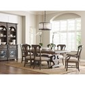 Kincaid Furniture Greyson Crawford Refectory Dining Table with Scrolled Bases and Self-Storing Leaves