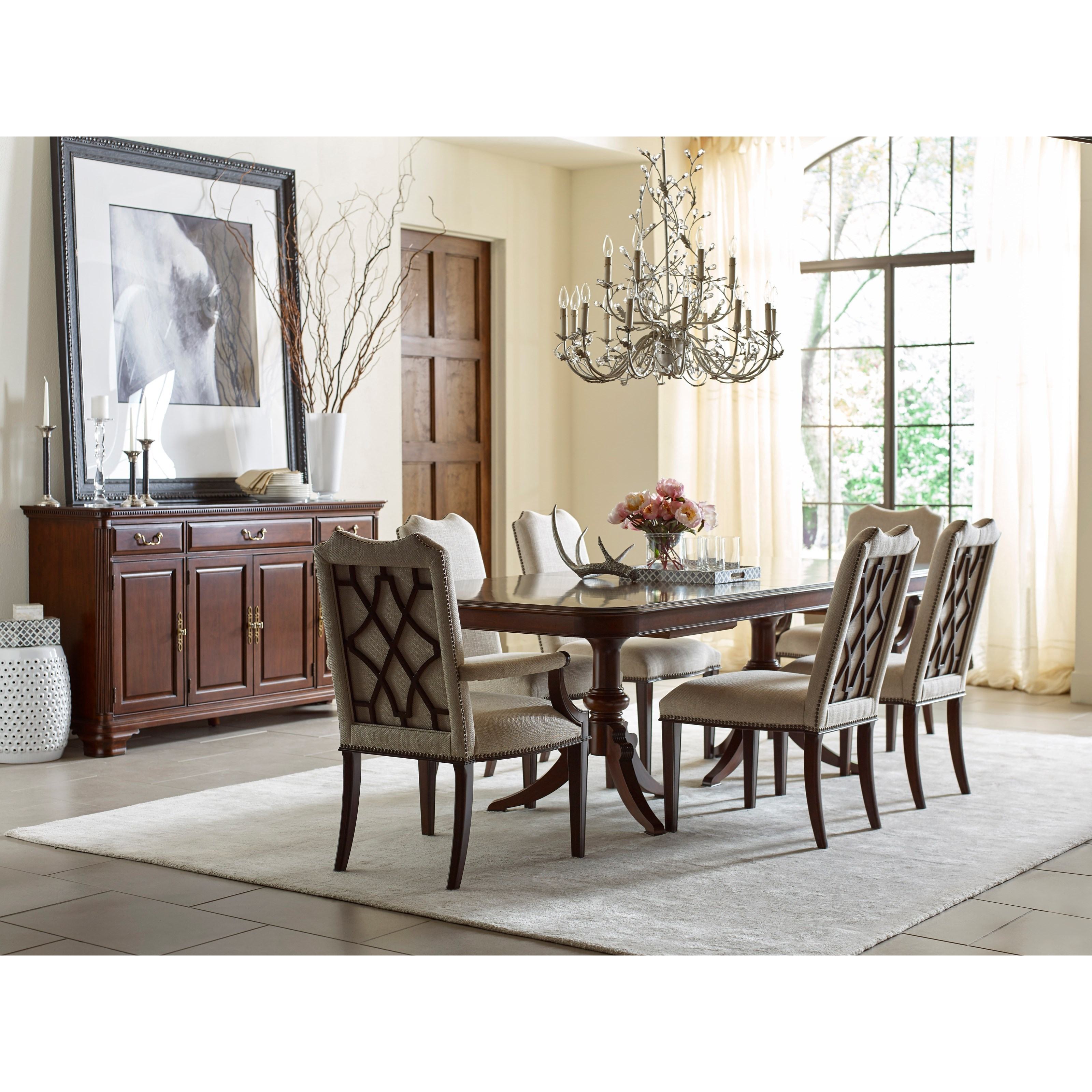 Kincaid furniture hadleigh formal dining room group for The dining room leigh