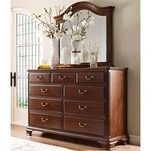 Kincaid Furniture Hadleigh Dresser and Mirror Set