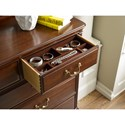 Kincaid Furniture Hadleigh Traditional Dresser and Mirror Set with Nine Drawer Dresser and Arched Mirror