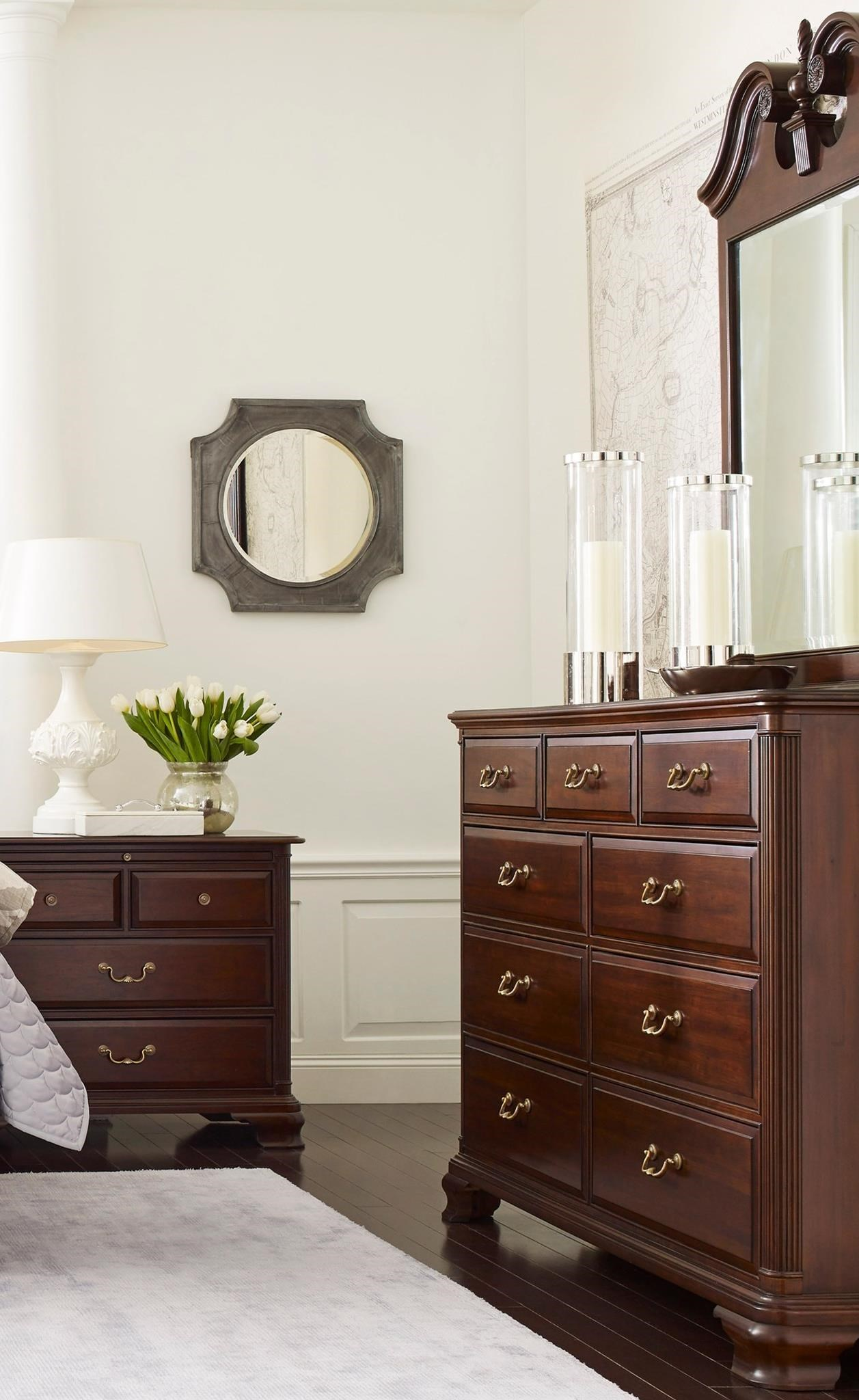 Kincaid Furniture Hadleigh Dresser and Mirror Set - Item Number: 607-130+607-030