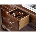 Kincaid Furniture Hadleigh Traditional Dresser and Mirror Set with Bureau and Pediment Mirror