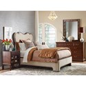 Kincaid Furniture Hadleigh Traditional Queen Upholstered Bed with Curved Headboard and Nailheads