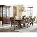 Kincaid Furniture Hadleigh Traditional Upholstered Side Chair with Nailheads and Wood Lattice Back