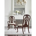 Kincaid Furniture Hadleigh Traditional Queen Anne Side Chair with Upholstered Seat