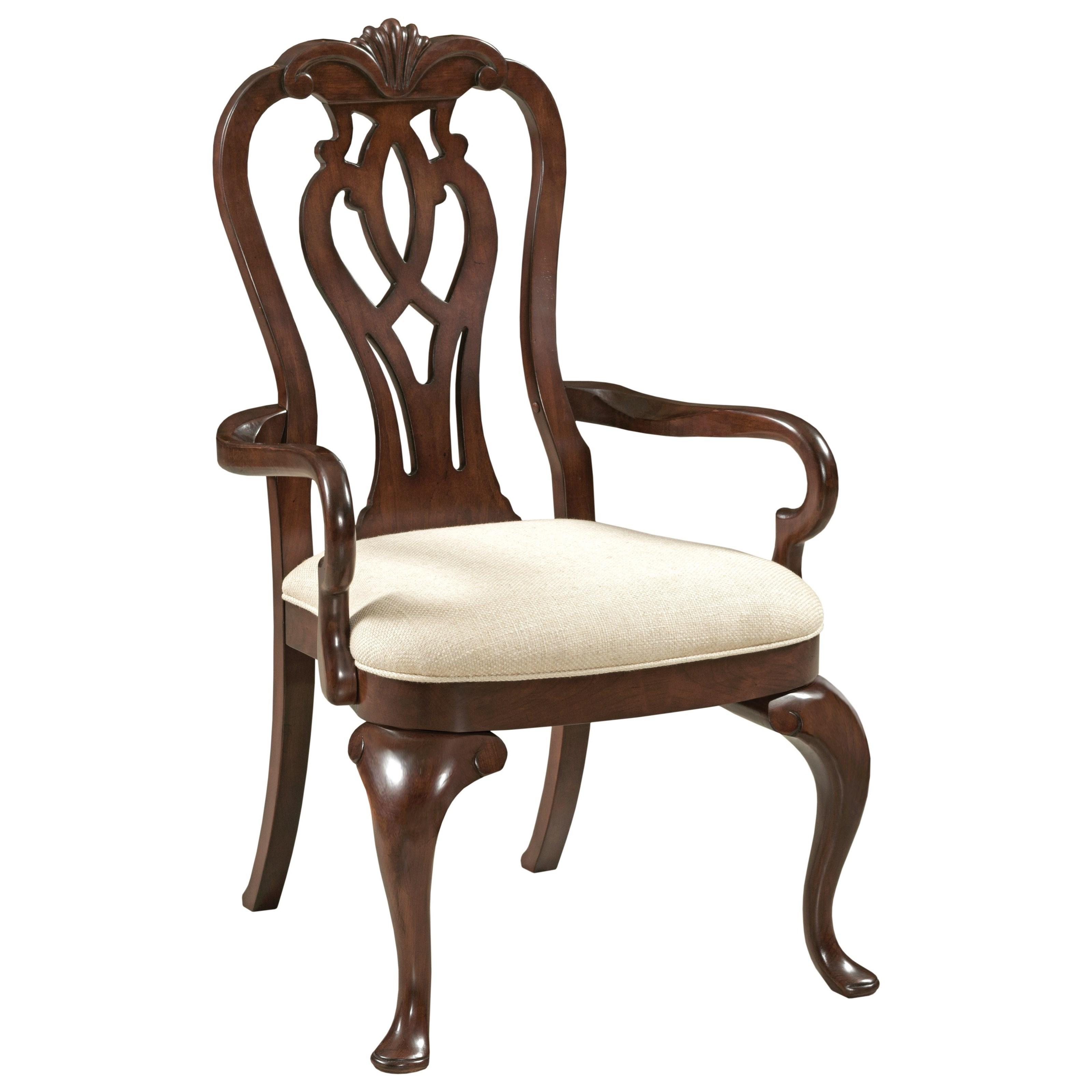 Kincaid Furniture Hadleigh Traditional Queen Anne Arm