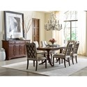 Kincaid Furniture Hadleigh Seven Piece Formal Dining Set with Upholstered Chairs
