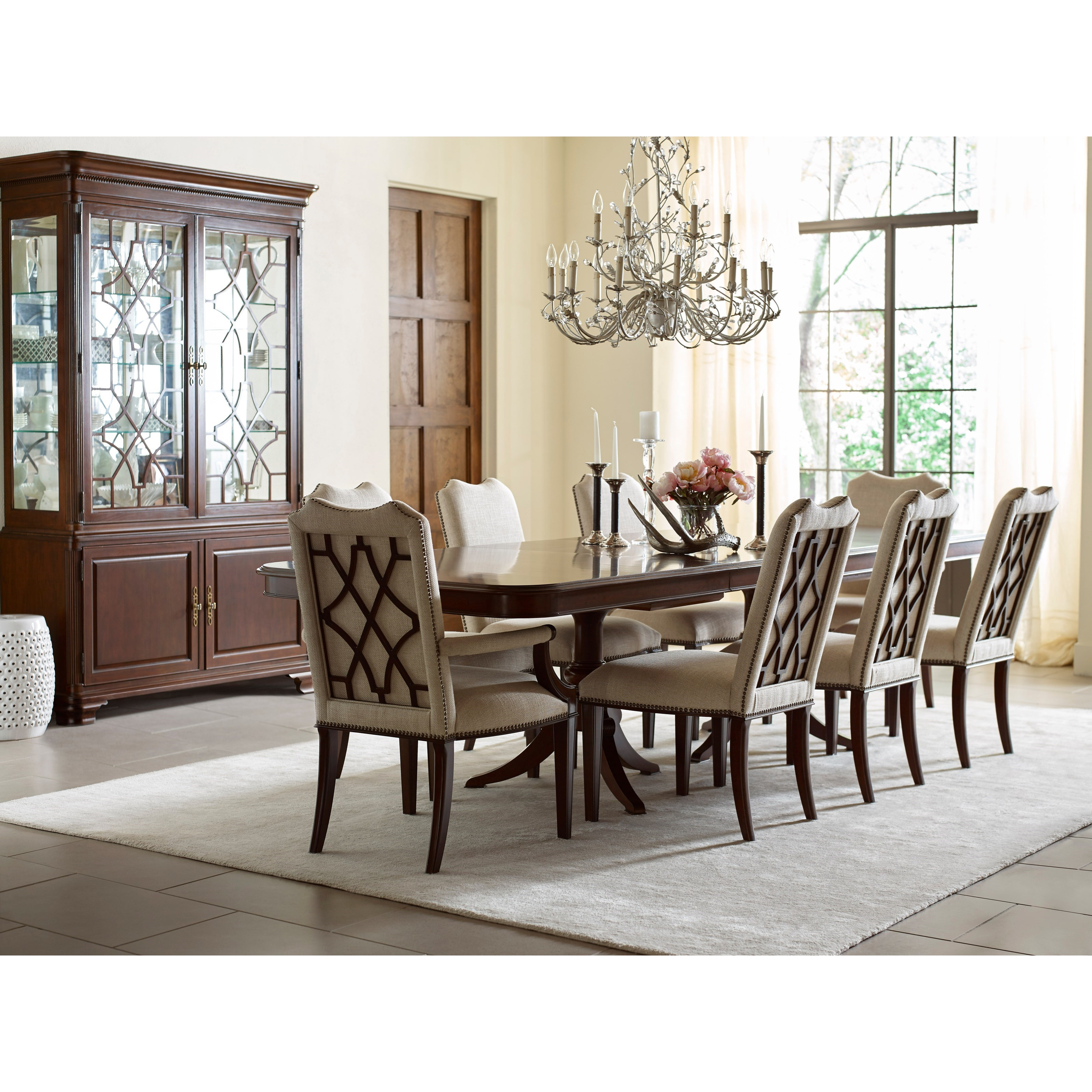 Kincaid Dining Room Set: Kincaid Furniture Hadleigh Nine Piece Formal Dining Set With Upholstered Chairs