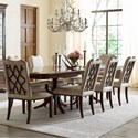 Kincaid Furniture Hadleigh 9 Pc Dining Set - Item Number: 607-744P+2X623+6X622