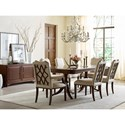 Kincaid Furniture Hadleigh Traditional Double Pedestal Dining Table with 18th Century Styling - Shown with No Leaves