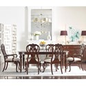 Kincaid Furniture Hadleigh 7 Pc Dining Set - Item Number: 607-760+2X637+4X636