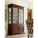 Kincaid Furniture Hadleigh Traditional China Cabinet with Adjustable Shelving and Touch Dimmer Light