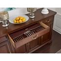 Kincaid Furniture Hadleigh Traditional Buffet with Adjustable Shelving and Silverware Tray