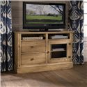 Kincaid Furniture Homecoming Craftsman Entertainment Console - 33-035 - Shown with Glass Door Panel