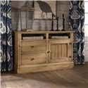 Kincaid Furniture Homecoming Craftsman Entertainment Console - 33-035 - Shown with Wood Door Panel
