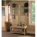 Kincaid Furniture Homecoming Hall Tree with Bench & Shoe Storage, Hooks & Mirrors - 33-039B+039D