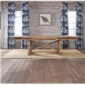 Kincaid Furniture Homecoming Refectory Trestle Table - Shown with Two Leaves Extended