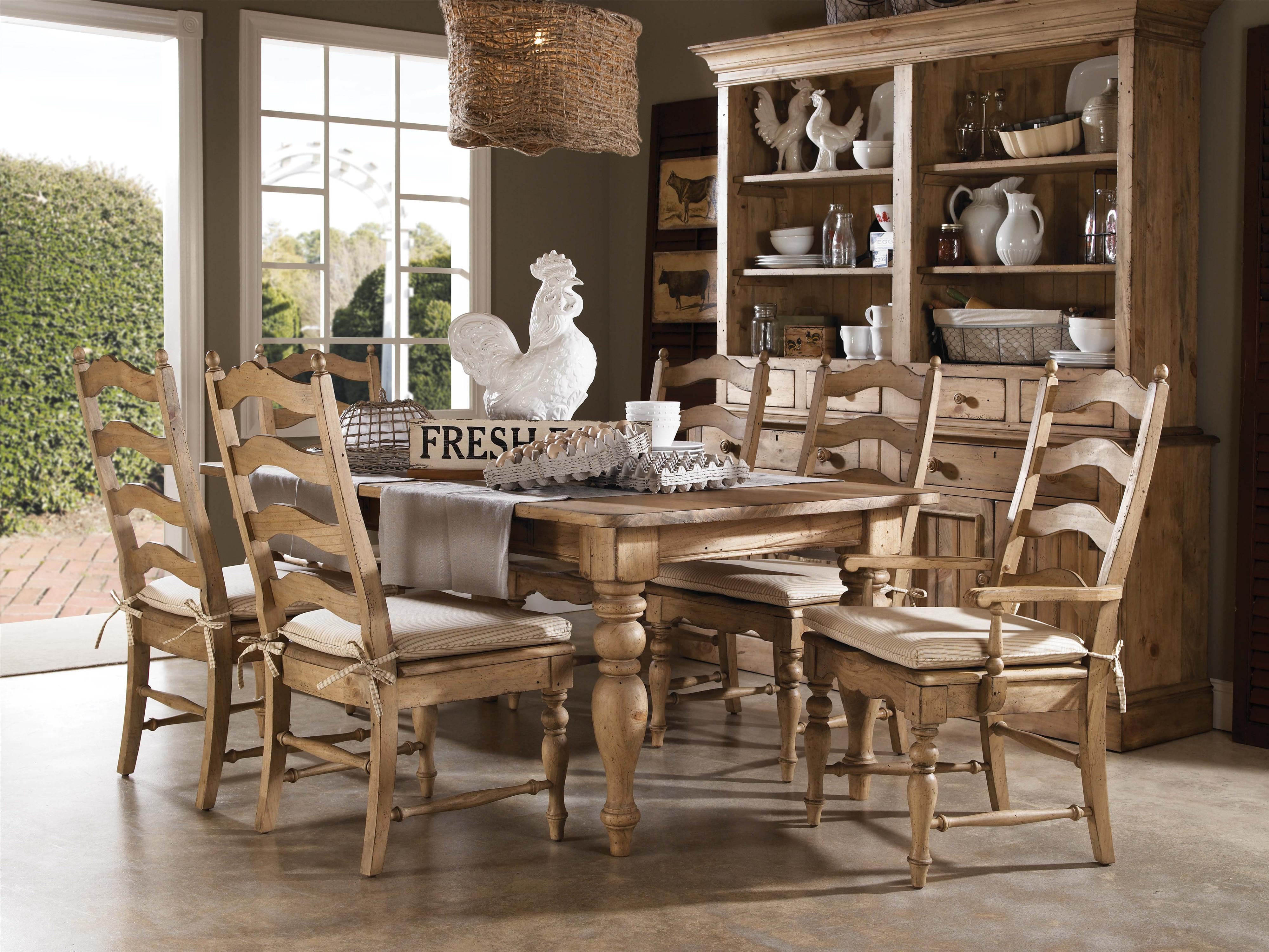 Kincaid Furniture Homecoming Seven Piece Dining Table & Chair Set - Item Number: 33-056+2x062+4x061