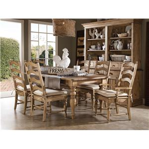 Kincaid Furniture Homecoming Seven Piece Dining Table & Chair Set