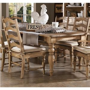 Kincaid Furniture Homecoming Farmhouse Leg Table