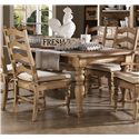 Kincaid Furniture Homecoming Farmhouse Leg Table with Four Drawers