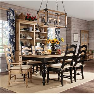 Kincaid Furniture Homecoming Seven Piece Dining Table and Chair Set