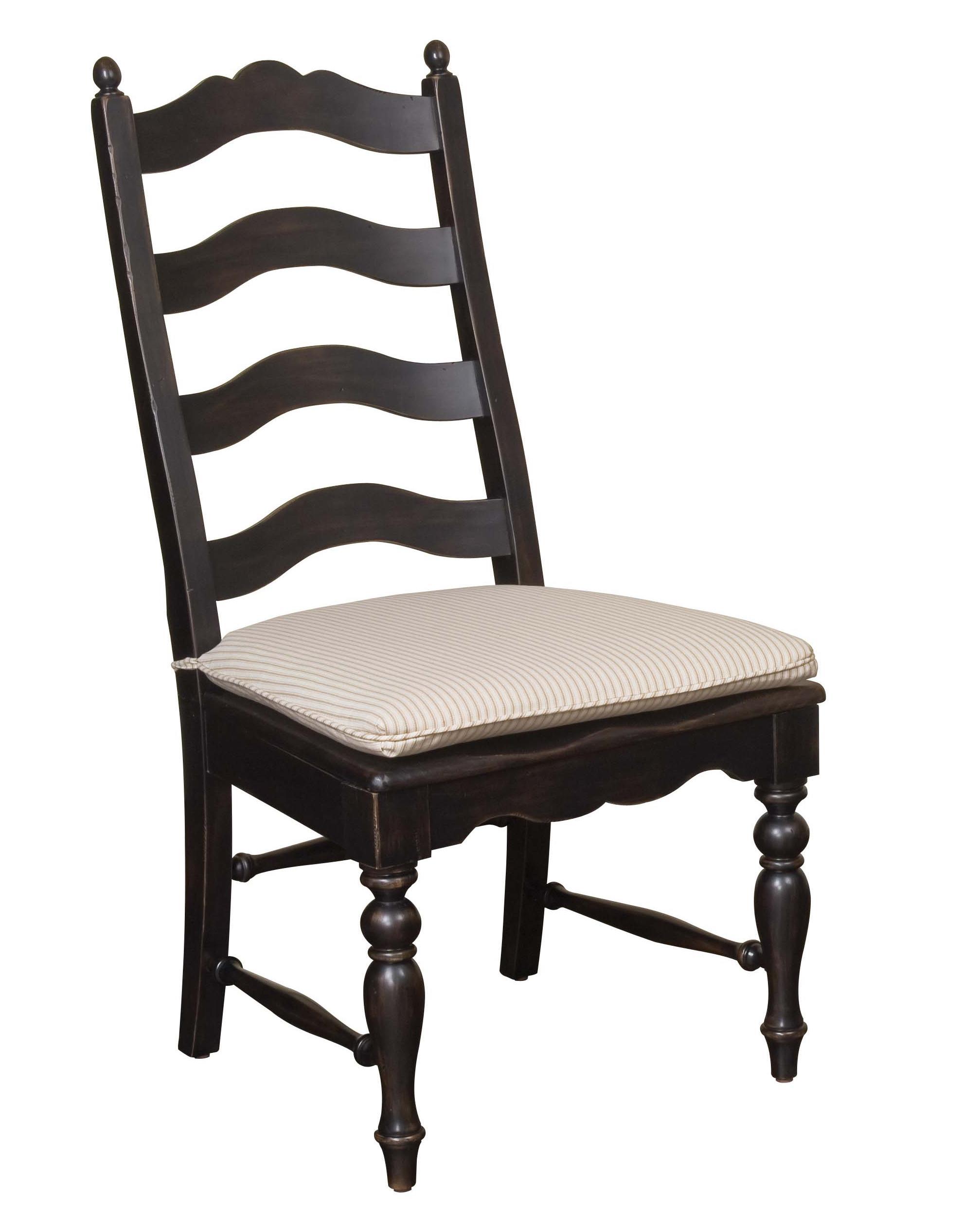 Kincaid Furniture Homecoming Ladderback Side Chair Black - Item Number: 33-061B