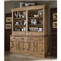 Kincaid Furniture Homecoming Buffet with 4 Pine Doors & 2 Drawers - Shown with Open Hutch