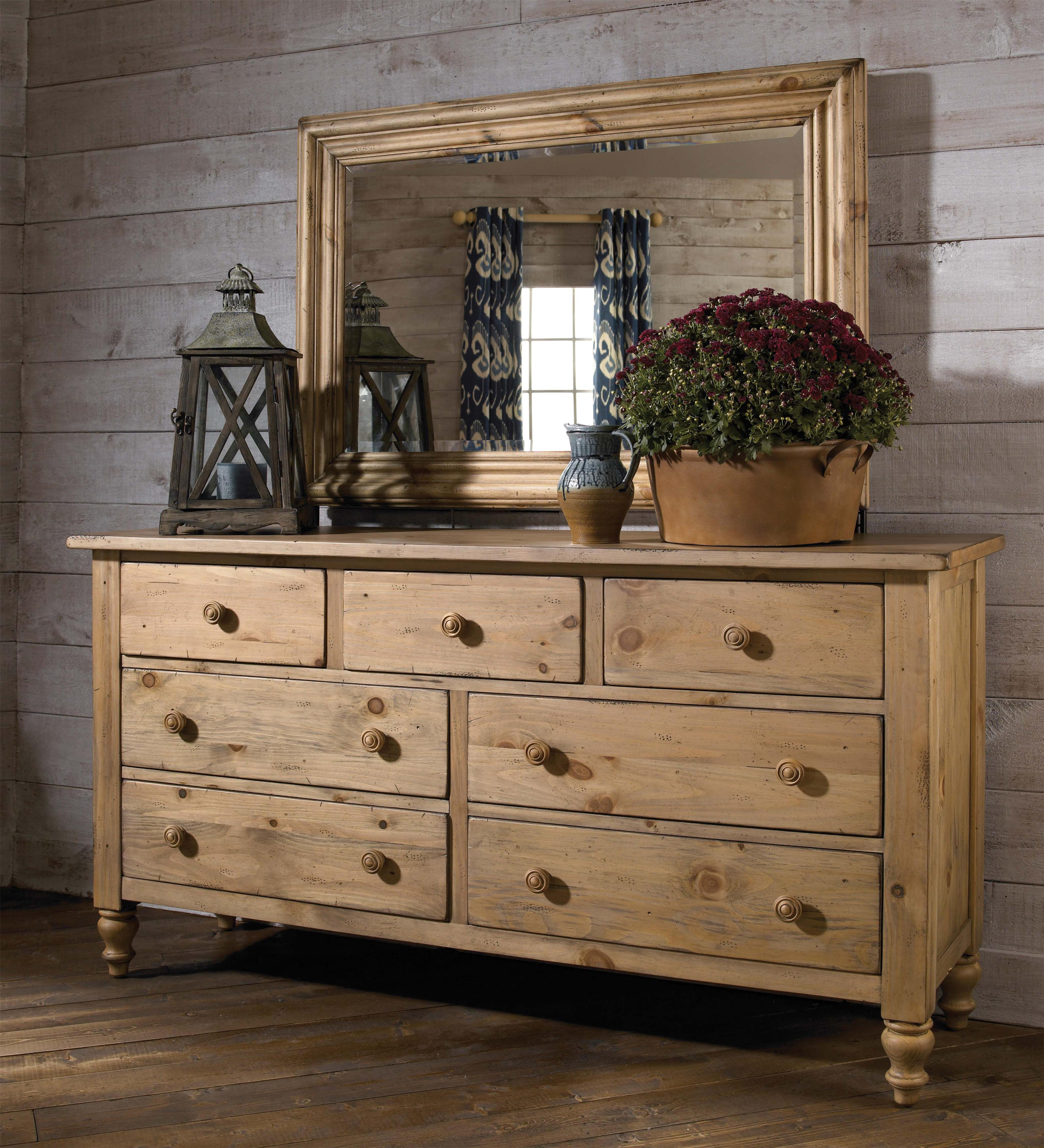 Kincaid Furniture Homecoming Triple Dresser with Mirror - Item Number: 33-114+160
