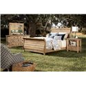 Kincaid Furniture Homecoming Queen Sleigh Bed with Headboard and Footboard - Shown with Open Nightstand, Triple Dresser & Mirror