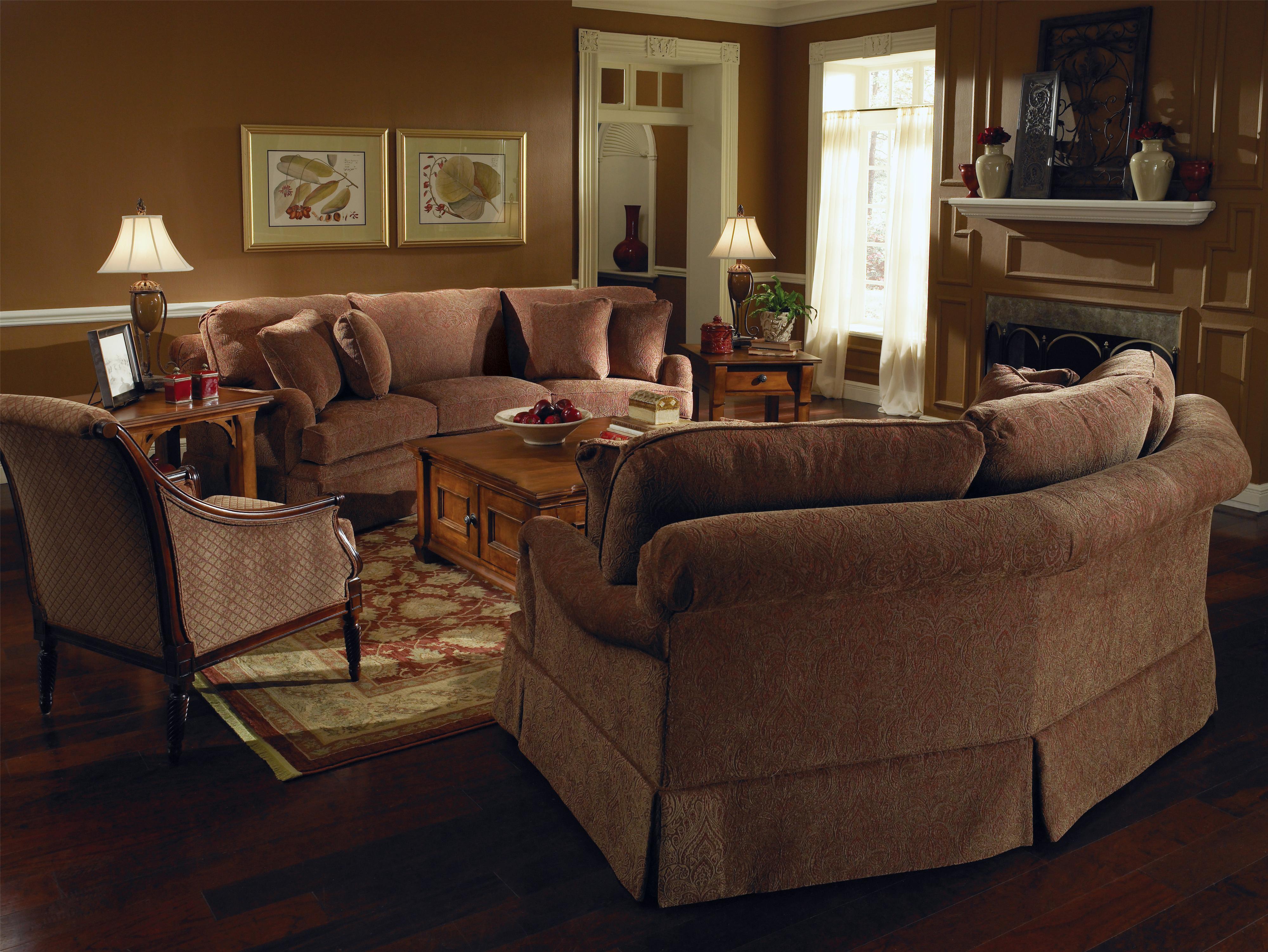 Kincaid Furniture Jackson 555 86 Traditional Curved Sofa