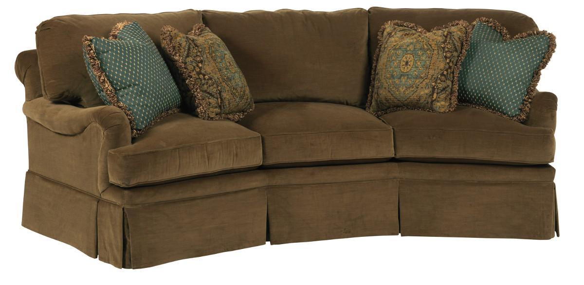 Kincaid Furniture Jackson Traditional Curved Sofa With