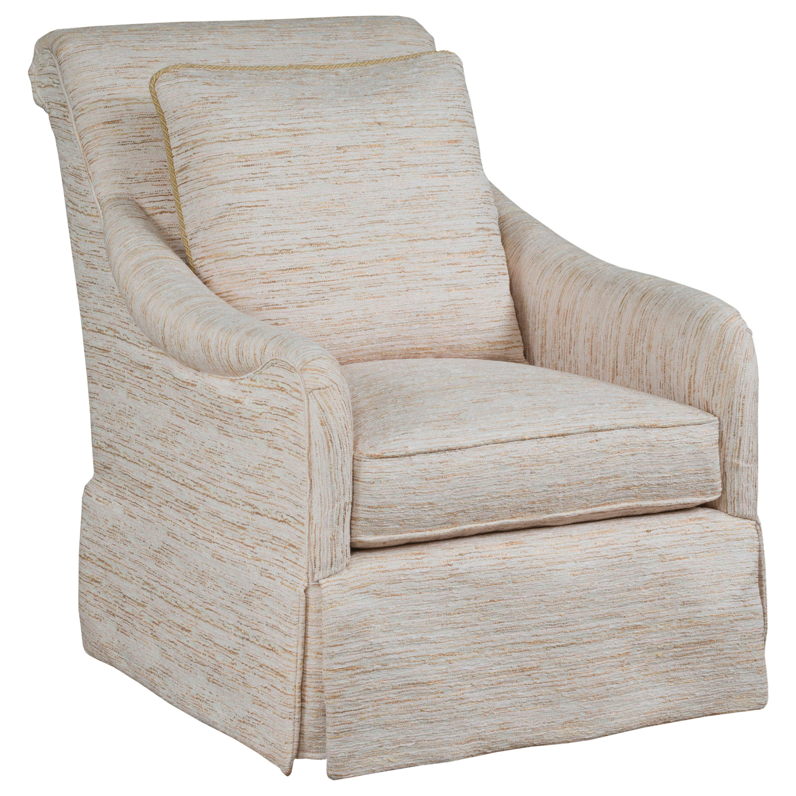 Joceylyn Upholstered Swivel Glider by Kincaid Furniture at Johnny Janosik