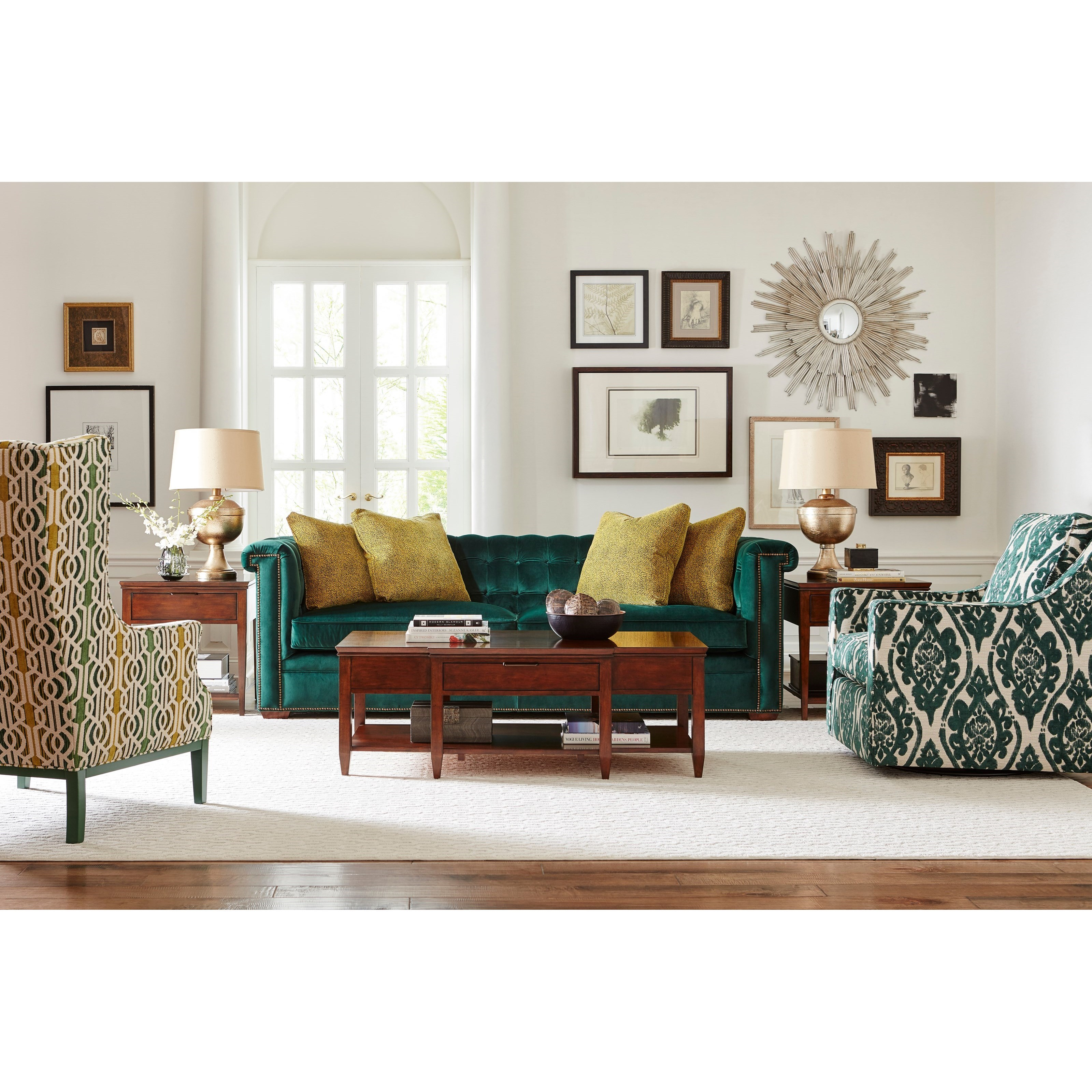 Kincaid Furniture Accent Chairs Bradley Swivel Glider