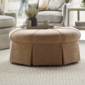 Kincaid Furniture Accent Chairs Round Ottoman - Item Number: 011-03-Dudley Coral