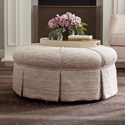 Kincaid Furniture Accent Chairs Round Ottoman - Item Number: 011-03-Flair Cameo