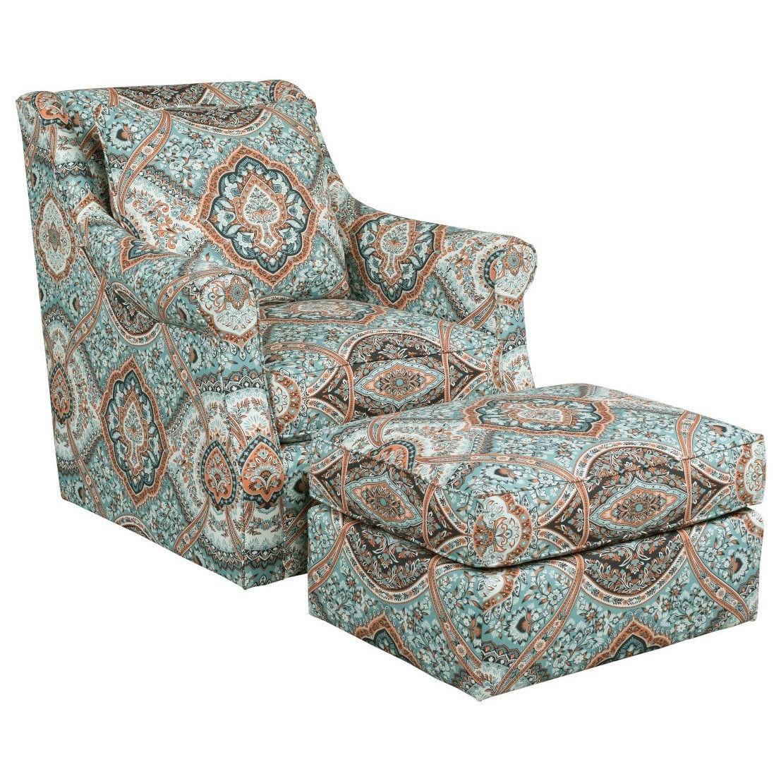 Accent Chairs Tate Chair & Ottoman Set by Kincaid Furniture at Johnny Janosik