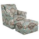 Kincaid Furniture Accent Chairs Tate Chair & Ottoman Set - Item Number: 013-02+03-Abbotsford Aqua