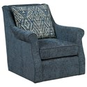 Kincaid Furniture Accent Chairs Tate Swivel Glider Chair - Item Number: 013-02-Tandem Midnight