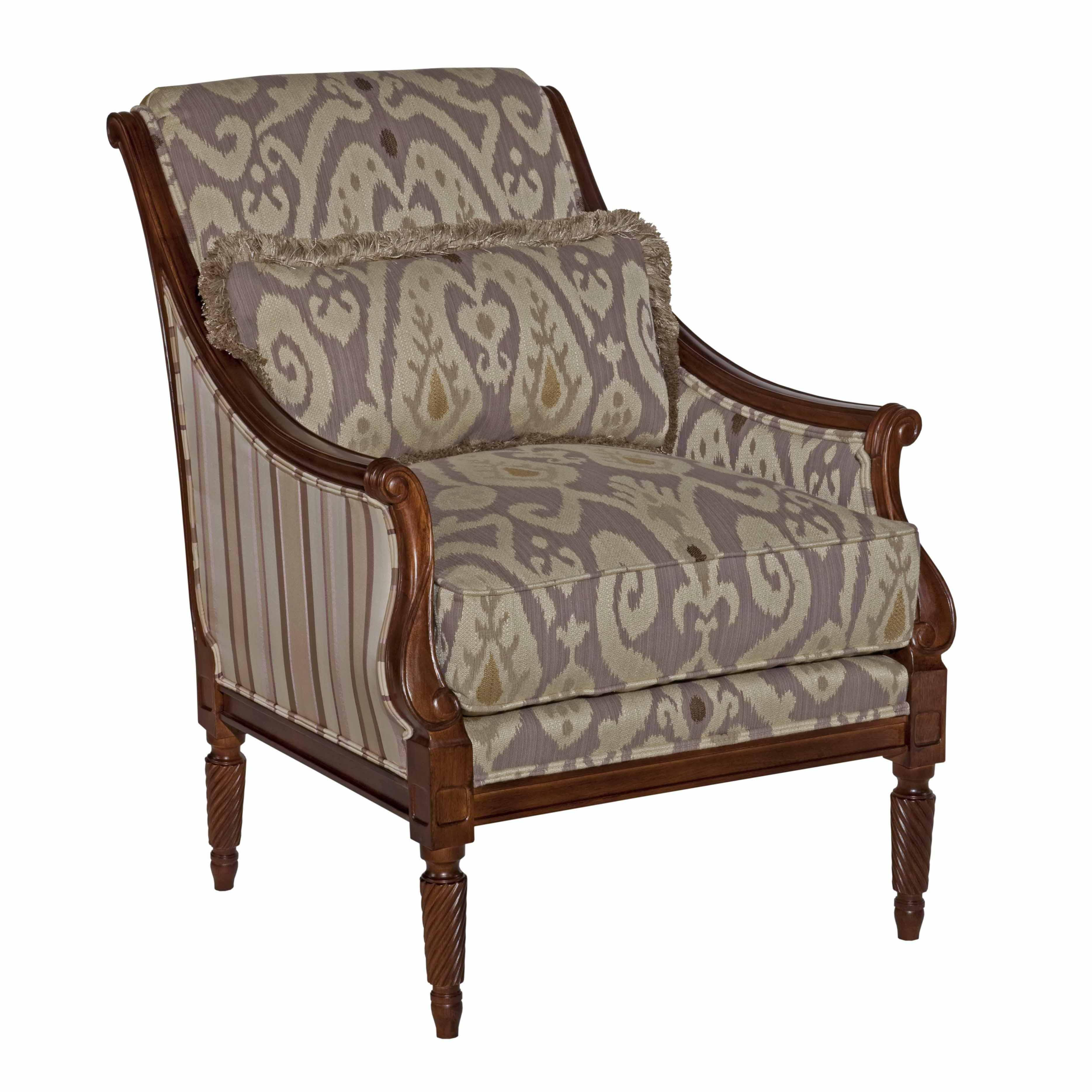 Kincaid furniture accent chairs wooden arm chair