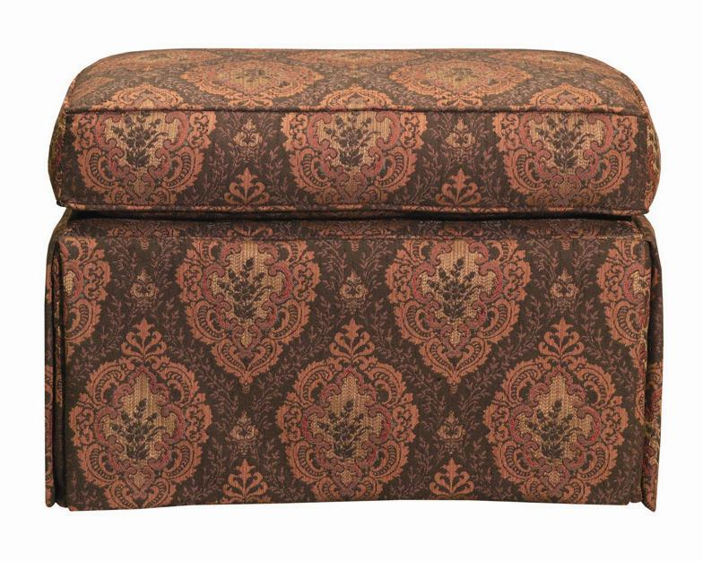 Accent Chairs Skirted Ottoman by Kincaid Furniture at Johnny Janosik