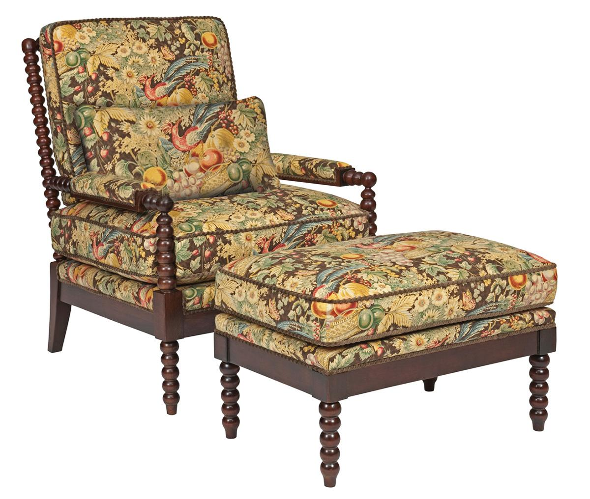 Accent Chairs Jenny Chair and Ottoman Set by Kincaid Furniture at Johnny Janosik