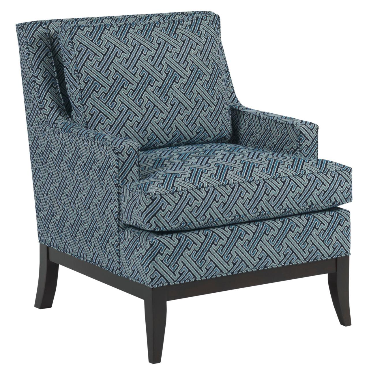 Kincaid Furniture Accent Chairs Park Avenue Chair with Exposed Wood Base and Track Arms - Hudson ...