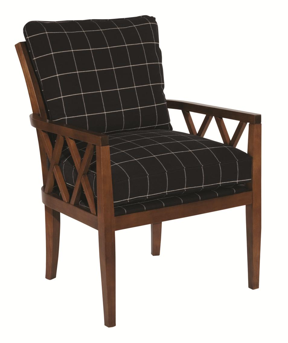 Accent Chairs Veranda Chair With Exposed Wood Lattice Arms By Kincaid  Furniture