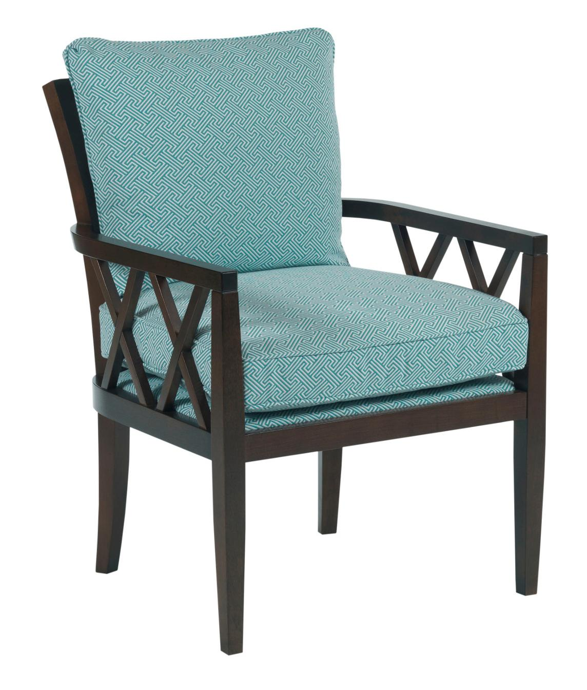 Kincaid furniture accent chairs veranda chair with exposed