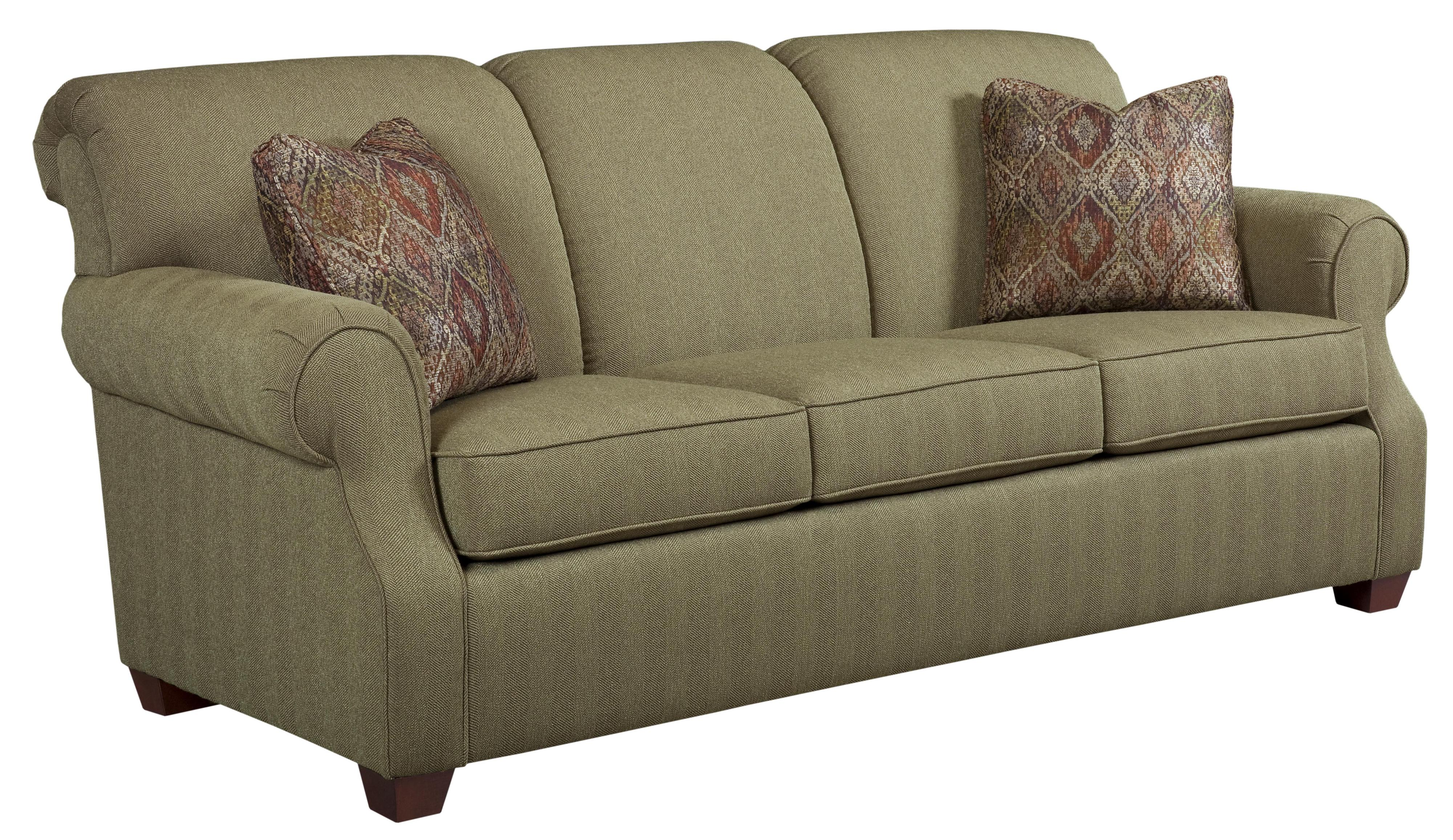 Kincaid Furniture Lynchburg Sofa With Rolled Back And Tapered Wood Feet Johnny Janosik Sofa