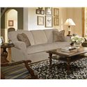 Kincaid Furniture Lynchburg Sofa with Rolled Back and Tapered Wood Feet - 814-86