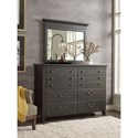 Kincaid Furniture Mill House Dresser and Mirror Set - Item Number: 860-130A+040A